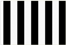 Black And White Striped 5' x 3' Larger Sleeved Flag